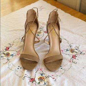 NWOT Lulu's Lace Up Heels